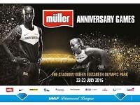 Athletics - IAAF Diamond league - anniversary games - 2 tickets to sell £54 each - debatable price!!