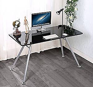 High Gloss Black Computer Desk For Sale