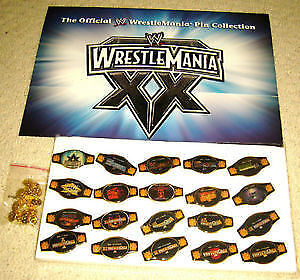 **NEW** Offcial WWE WrestleMania 20th Anniversary Pin Belt set Cambridge Kitchener Area image 3