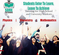 1- on- 1 Tutoring for Chemistry, Physics and Math