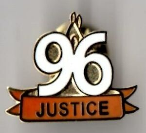 JUSTICE 96 LIVERPOOL RARE & COLLECTABLE ENAMEL PIN BADGE