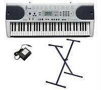 Casio LK45 61-Key Lighted Keyboard w/Stand & Adapter
