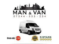 MAN AND VAN MANCHESTER from only £20, text for the instant quote 07544-555-234