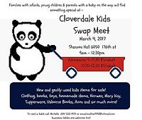 Cloverdale Kids Swap Meet March  4 - 2017