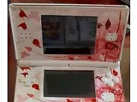 White Nintendo DS - with floral sticker