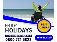 Holidays abroad for Elderly Disabled and People with special needs.
