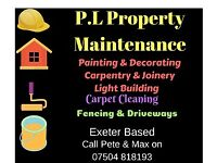 P.L Property Maintenance, Painting & Decorating, Carpet cleaning, Building, Fencing
