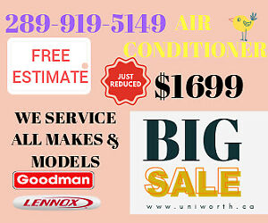 *SALE*INSTALLATION NEW AIR CONDITIONERS AND FURNACES*