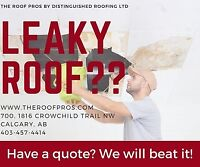 Leaky Roof?? Have a quote already? We will beat it!