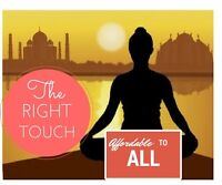 Avail Massage with the RightTouch to Rejuvenate.