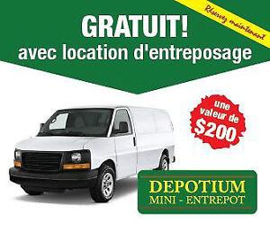 Entreposage 4 semaines Gratuites + Camionette Gratuite