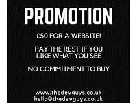 £50 FOR YOUR WEBSITE - PAY THE REST IF YOU ARE HAPPY OR WALK AWAY. NO COMMITMENT TO PURCHASE