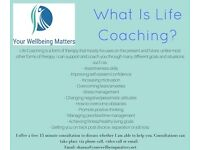 Introductory rate Life Coaching Sessions (1 hour) - £10 (first session free) (Online or phone)