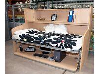 Rotating bed desk