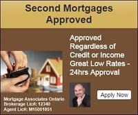 Second Mortgage & Private Loans -No creidt/Income Required