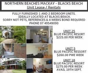 BLACKS BEACH, MACKAY   1 AND 2 BEDROOM UNITS Blacks Beach Mackay City Preview