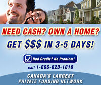 LOOKING FOR A PRIVATE 2ND OR 3RD MORTGAGE? WE CAN HELP?