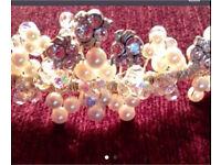 Brandnew crystal and pearl tiara