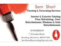Sam Shorts Painting & Decorating services