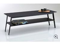 La Redoute Interieurs Hiba Two-Tier Metal Coffee Table. AS NEW