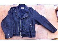 Men's Real Leather Brando Style 1950s Classic Retro Biker Jacket