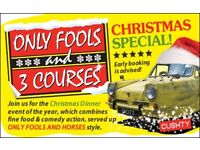 Only Fools and 3 Courses XMAS Special Dinner Event Bewdley Nr Kidderminster