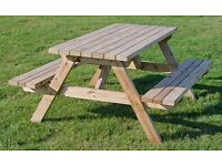 Six Seater Picnic Benches for Sale - Great Condition