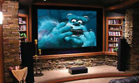 3D HOME THEATER PROJECTORS SCREENS AND GLASSES FOR SALE