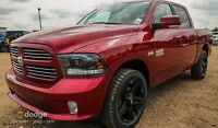 2015 RAM 1500 SPORT WITH AFTERMARKET RIMS & IT'S GORGEOUS !!