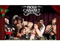 PROUD CABARET Brighton looking for BAR STAFF, RUNNERS and WAITRESSES for 2017 Team!