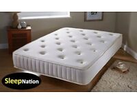 DOUBLE MEMORY FOAM ORTHOPAEDIC SPRUNG SUPPORT MATTRESS SALE