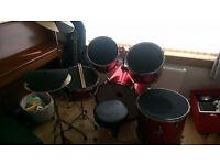 7 piece complete drumkit