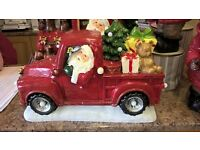 Large light up musical christmas truck,new still in box