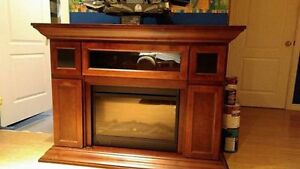 Electric fireplace - color cherry - Storage