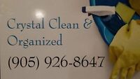 Crystal Clean & Organized, For ALL Your Cleaning Needs