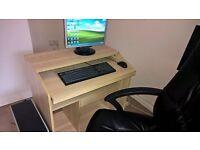 Desk + office chair