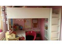 Ikea Stuva Loft bed pink/white
