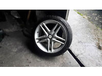 FOUR ALLOY WHEEELS AND TYRES FOR SALE