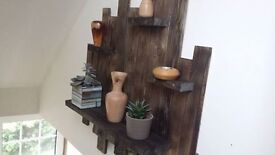 Recycled Timber rustic shelf / Wall art