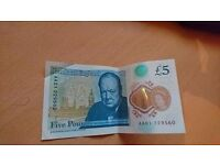 selling AA01 £5 NOTE OPEN TO OFFERS !!
