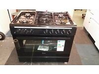 Swan SX2040 90cm Duel Fuel Range Cooker - Black new