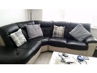 beautiful grey and black corner sofa from dfs