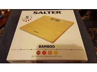Salter Bamboo Digital Bathroom Scales BRAND NEW