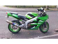 Kawasaki zx6r ninja ( 2001 ) sports bike