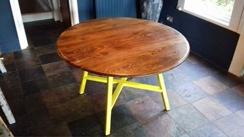 Dining table, oval drop leaf elm dining table by Ercolin Southend on Sea, EssexGumtree - Dining table, oval drop leaf elm dining table by Ercol. Legs painted yellow, top in need of varnish in some places. Used vintage piece