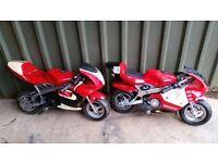 Mini moto bikes x2