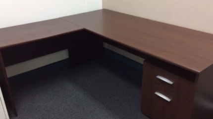 Large office desk with return and filing drawer