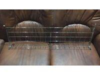 30x 860mm x 270mm CHROME GRID WALL MESH DISPLAY PANELS SHELF SHELVES SHOP DISPLAY RETAIL SLATWATLL