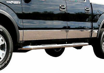 "2009-2014 Ford F-150 Crew Cab Chrome Rocker Panel Chrome 12Pc 7"" Body Molding"