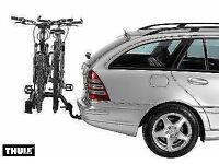 Bike rack for car tow bar with lights